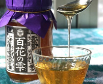 日本ミツバチの生の蜂蜜