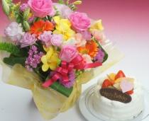花/ケーキ